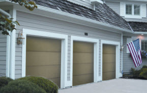 Wooden Flush Garage Doors