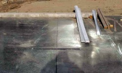 Concrete Garage Floor Closeup View
