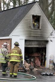 Fire Damaged Garage Photo