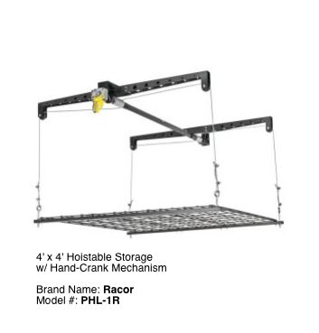 Hoisted Garage Storage