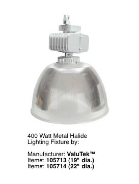 Metal Halide Fixture For High Ceilings