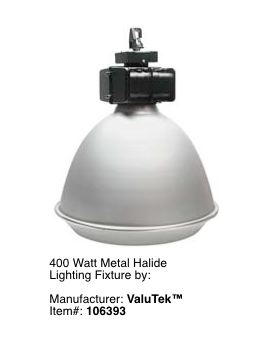 Metal Halide Fixtures For Low Ceilings