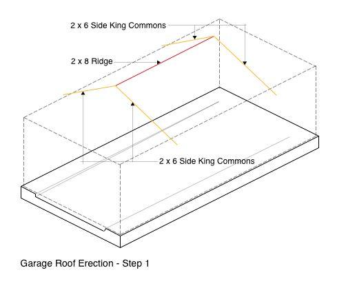 Garage Roof Erection - Step 1