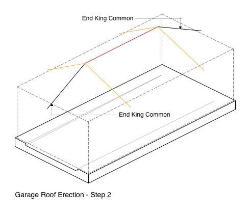 Garage Roof Erection - Step 2