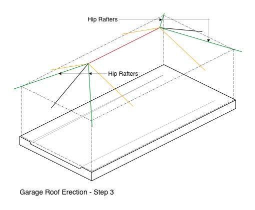 Garage Roof Erection - Step 3