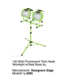 Tall Portable Fluorescent Light