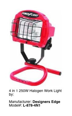 Portable 4 in 1 Work Light