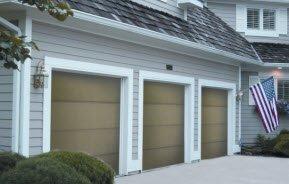 Wooden Flush Garage Doors