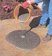 Technician Applying Quikrete