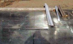 Concrete Garage Floor Closeup View