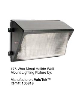 Wall Mount Garage Exterior Lighting Fixture #2