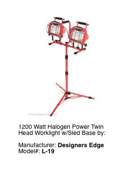 Tall Portable Halogen Light