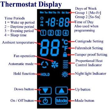 Digital Thermostat Display